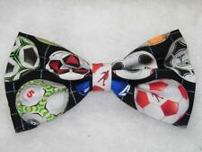 Soccer Bow tie / Colorful Soccer Balls on Black / Tournament / Pre-tied Bow tie