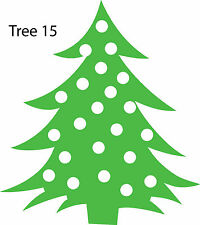 Christmas Tree Retail Shop Window Display Vinyl Sticker Wall Sticker V15