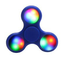 Blue LED Light Fidget Tri-Spinner Focus Toys ABS Finger Ball For Kids/Adult SC