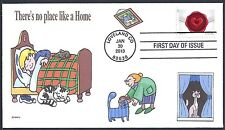 CAT  THERE'S NO PLACE LIKE A HOME   GRANDMA    FDC- DWc CACHET