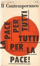 Il Contemporaneo. Ottobre 1961