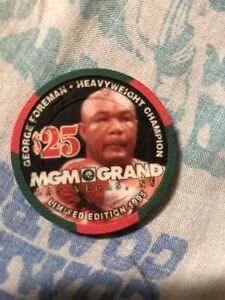 1995 MGM Gaming Chip George Foreman Boxing World Champion Las Vegas Rare