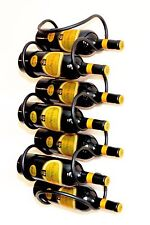 Botellero para vino Ola 58 cm de metal 7 Botellas Soporte Estante pared