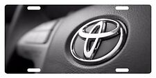 TOYOTA LOGO CUSTOM LICENSE PLATE CAR  EMBLEM Steering Wheel Version