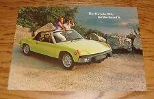 Original 1973 Porsche 914 Deluxe Sales Brochure 73 914S