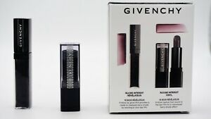 GIVENCHY My Mini Lip Duo Gift Set Gloss Rouge Interdit Vinyl 16 Noir Révélateur