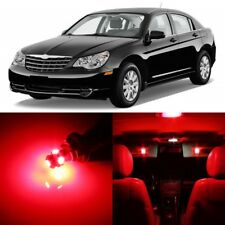 12 x Ultra RED Interior LED Lights Package For 2007-2010 Chrysler Sebring +TOOL