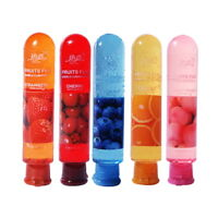 edible fruit oil strawberry flavor Lover body Lubricant sex lube oral 80ml ##