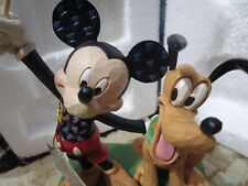 """Jim Shore - """"A Banner Day"""" - Mickey and Pluto Patriotic - #6005975 - Brand New"""