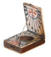 A miniature Diptych Sundial, Nuremberg, Circa 1720.