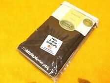 """NEW    SEARS SHEER CRINKLE VOILE PANEL M06297 ONE PANEL 51"""" x 63"""" D24 CHOCOLATE"""
