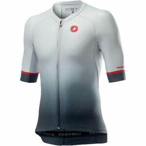 NEW 2021 Castelli AERO RACE 6.0 Cycling Jersey, Silver Grey/Dark Grey, 2XL