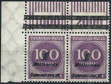 Ziffer im Kreis MiNr. 331b OPD München vom Walzenoberrand 2'9'2 + 1'11'1 Ecke 1