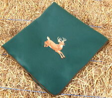 Embroidered Fleece Blanket Whitetail Buck Deer Personalized Hunting Forest Green
