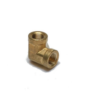 1/8 Female Npt 90 Degree Elbow Brass Fitting Vacuum, Fuel, Air, Water, Oil, Gas