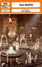 FICHE CINEMA : LOLA MONTES - Carol,Ustinov,Ophüls 1955