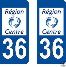 stickers autocollants plaques immatriculation auto Département 36 INDRE