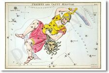 Perseus with the Head of Medusa Constellation - NEW Astrology Poster
