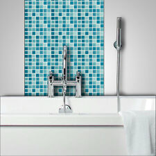 BLUE Glass Mosaic Tiles Bathrooms Kitchens Wall Floor FREE P&P On Samples C122