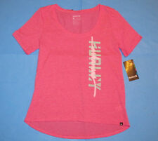 NWT Hurley ARKANSAS Scoop Neck T-Shirt  Womens Sz S Razorbacks Pink