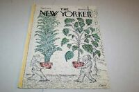 MAY 5 1975 NEW YORKER magazine cover PLANTS