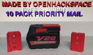10 Pack of Milwaukee V28 28V Battery Mounts Holder  -- Dust Cover / Bracket