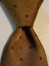 DRAKE'S Men's 100% Silk Necktie ENGLAND Luxury Designer Geometric Brown/Red EUC