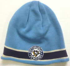 NHL Pittsburgh Penguins Vintage Hockey Cuffless Knit Hat Cap Beanie NEW!