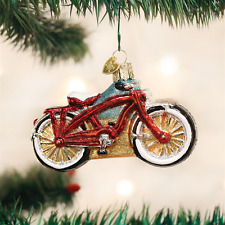 Cruiser Bike Bicycle Glass Ornament Old World Christmas NEW IN BOX