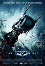 "THE DARK KNIGHT (2008) ORIGINAL MOVIE POSTER ""BATMOBILE"" VERSION ROLLED  2-SIDED"