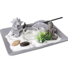 Bouddha Zen Maison de Jardin Relax spirituel Pebbles Tea Light Candle Sable plaque NEUF