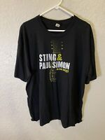 Sting and Paul Simon On Stage Together T Shirt Tour 2014 Size 3xl A3