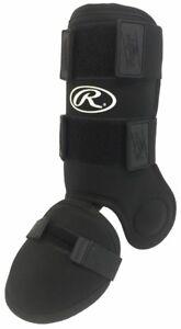 RAWLINGS BASEBALL HITTERS LEG GUARD MODEL GUARDLEG BLACK