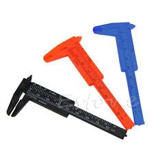 New 1Pc 80mm Mini Plastic Ruler Sliding Vernier Caliper Gauge Measure Tools