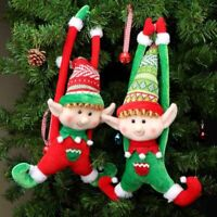 Plush Elf Doll Christmas Decoration New Year Kids Toy Xmas Tree Hanging Ornament