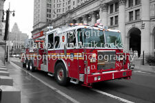 "New York City Fire Truck FDNY photo photographique toile Wrap 24x16"" (60x40cm)"
