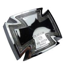 Struttura cromata sotto LED FANALE RETROVISORE MOTO FANALE RETROVISORE Iron Cross con caratteri di e