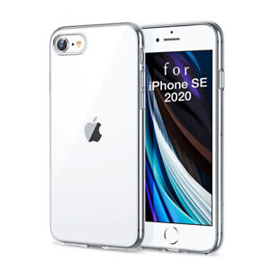 Clear Case For Apple iPhone SE 2020 8 7 Plus Transparent Silicone TPU Soft Cover