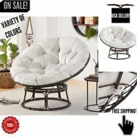 PAPASAN CHAIR Cushion Modern Living Room Bedroom Seat Steel Frame Charcoal Gray