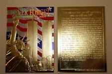 WORLD TRADE CENTER 9/11 First Anniversary 2002 Gold Card Stars & Stripes NM-MT