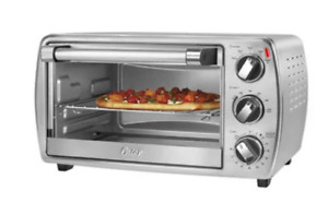 Oster 6 Slice Convection Toaster Oven Integrated Broil Rack Stainless TSSTTVCG04