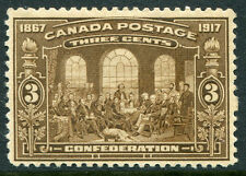 CANADA #135 VF Original Gum Issue Thin - Fathers of the Confederation - S7992