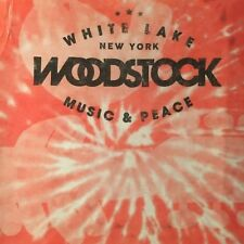 licensed WOODSTOCK t shirt--MUSIC PEACE--tie dye GROOVY retro style--NEW--(2XL)