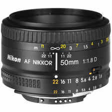 AF NIKKOR 50mm f/1.8D Lens for Nikon DSLR Cameras Clean/working. See Description