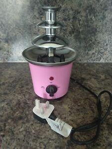 3 Tier Mini Electric Chocolate Fountain Fondue Melting Machine Christmas Gift