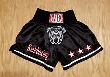 Nwot Mens Cvbc Muay Thai KickBoxing Mma Black Shorts Bulldog Large