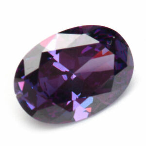 14x10MM 10.06CT Purple Artificial Amethyst Oval Faceted Cut Loose Gemstones