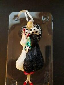 Hallmark Disney Blown Glass Christmas Ornament Dalmatians Cruella Deville