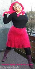 Mohair  fuzzy sweater skirt Mohairrock pink size M-XL