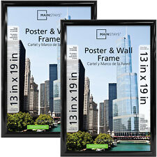 Poster And Picture Frame, Black, Set Of 2,  13x19 Trendsetter
